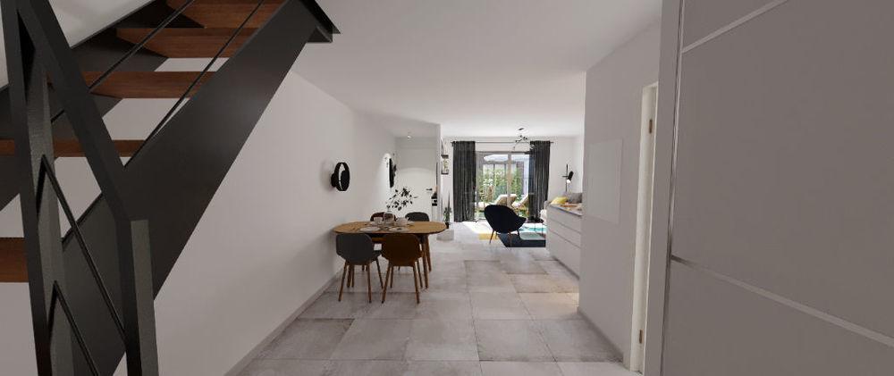 Vente Maison Maison de ville 4 pièces de 87 m2 à Bordeaux avec jardin de 73 m2 et terrasse  à Bordeaux
