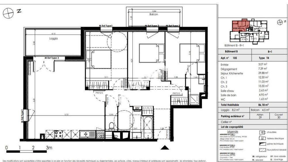 Vente Appartement Appartement Blanquefort 4 pièces 86.55 m2  à Blanquefort