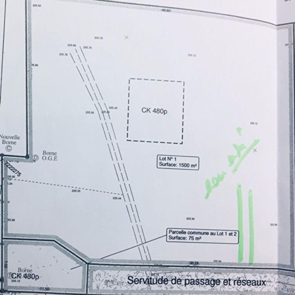 Vente Terrain Terrain Epinal Sud 1500 m2  à Epinal