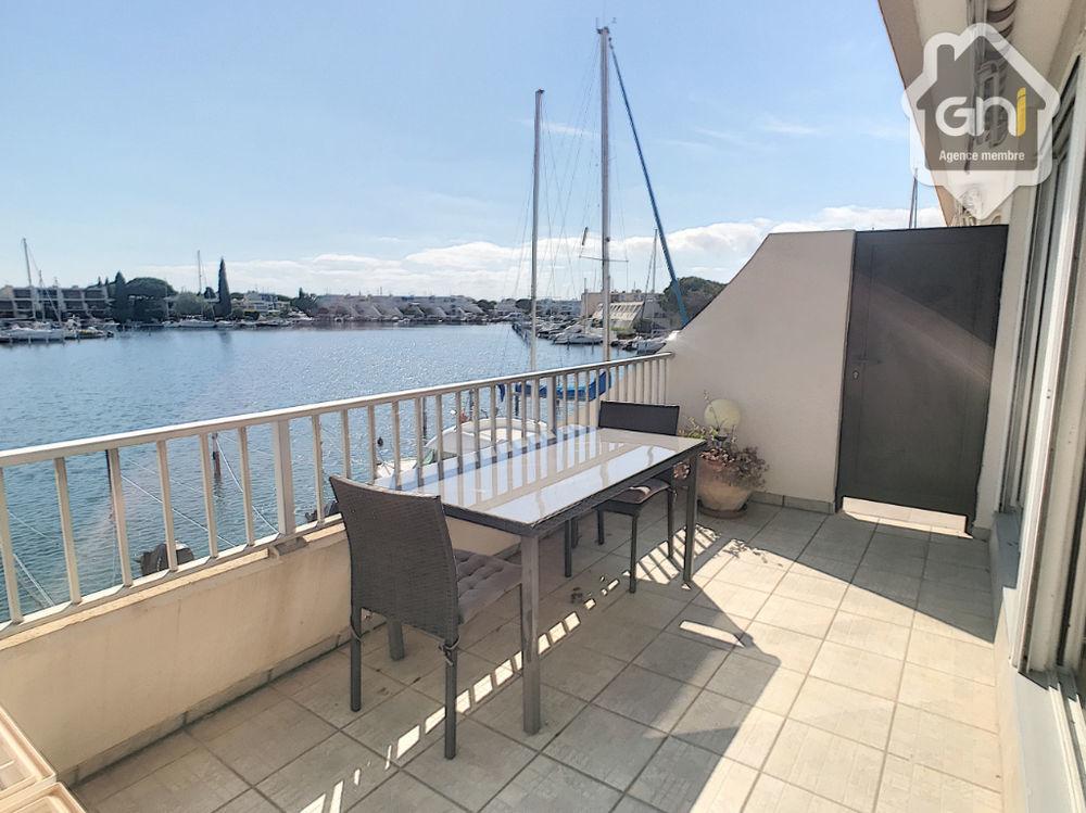 Vente Appartement Proche plage ravissante marina belle vue sur le plan d'eau  à Le grau du roi