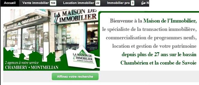 LA MAISON DE L'IMMOBILIER, agence immobilière 73