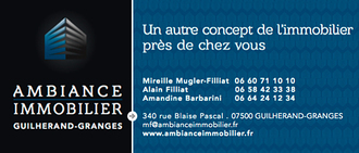 AMBIANCE IMMOBILIER <br>Mireille Mugler Filliat, agence immobilière 07