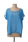 Blouse manches courtes femme Jardin Privé bleu taille : 42 39 FR (FR)