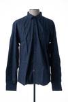 Chemise manches longues homme La Cible Rouge bleu taille : XL 37 FR (FR)