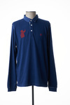 Polo manches longues homme Serge Blanco bleu taille : XL 62 FR (FR)