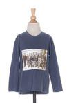 T-shirt manches longues garçon Sgio bleu taille : 2 A 14 FR (FR)