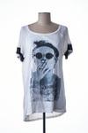 T-shirt manches courtes femme Kaporal blanc taille : 42 17 FR (FR)