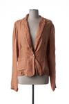 Veste chic / Blazer femme La Fee Maraboutee marron taille : 36 64 FR (FR)