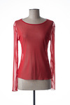 T-shirt manches longues femme Gadelya rouge taille : 38 32 FR (FR)