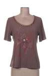 T-shirt manches courtes femme Betty Barclay marron taille : 40 26 FR (FR)