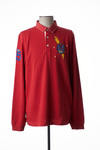 Polo manches longues homme Serge Blanco rouge taille : L 67 FR (FR)