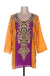 Blouse manches longues femme Samsara By Lis jaune taille : 40 14 FR (FR)