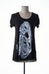 T-shirt manches courtes femme Lauren Moshi noir taille : 36 80 FR (FR)