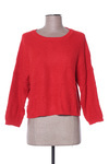 Pull col rond femme La Fee Maraboutee rouge taille : 38 19 FR (FR)