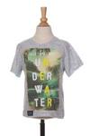 T-shirt manches courtes garçon Jn-Joy gris taille : 2 A 10 FR (FR)