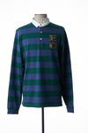 Polo manches longues homme Serge Blanco bleu taille : 3XL 59 FR (FR)