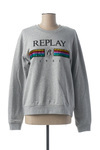 Sweat-shirt femme Replay gris taille : 40 54 France (FR)