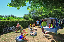 Le Plein Air des Bories - Mobilhome Trigano, wc, douche, 2 chambres, terrasse couverte Piscine couverte - Piscine collective - J Aquitaine, Carsac-Aillac (24200)
