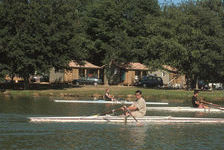 Camping Les Rives du Lac - Chalet Loisir Genêt : 2 chambres, 1 salle de bain, 30m² Piscine collective - Télévision - Terrasse - Midi-Pyrénées, Cazaubon (32150)