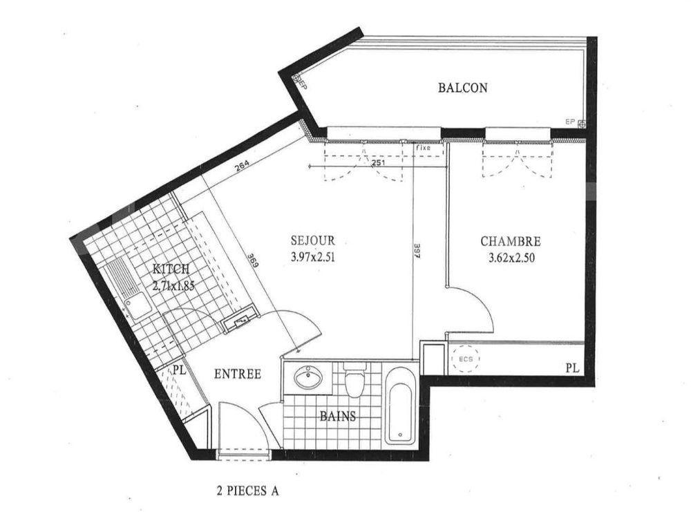 Vente Appartement Nouveau, app T2 de 2005, Thorigny c½ur de Ville, 39.35m², balcon, parking, à 800 m de la gare SNCF  à Thorigny-sur-marne