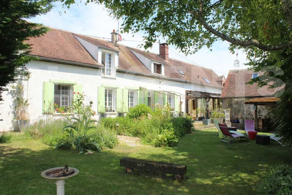 Vente Maison Belle et spacieuse longère 300 m2 (400 m2) + grandes dépendances - 2700 m2 - 20 km Sens / 110 Km Paris (A5)  à Pont-sur-yonne