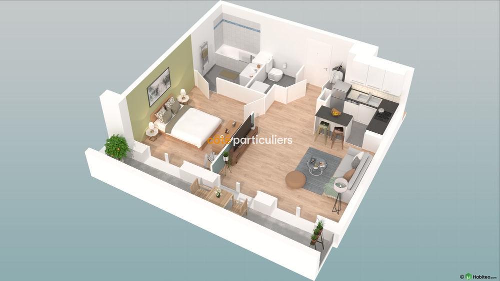Vente Appartement NEUF : T2 avec balcon et place de parking  à Reims