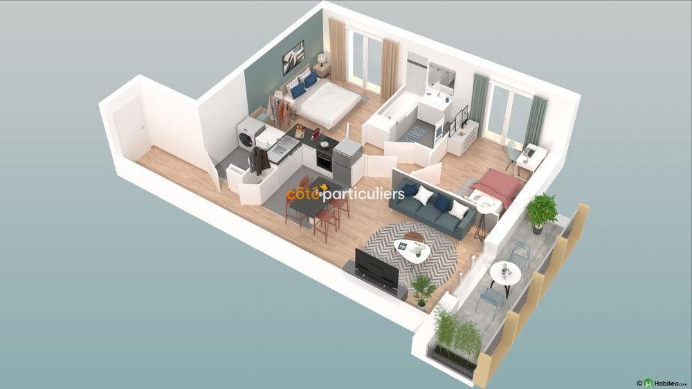 Vente Appartement NEUF : Appartement T3  avec terrasse et place de parking  à Reims