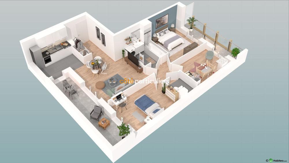 Vente Appartement NEUF : Appartement T4 avec terrasse et places de parking  à Reims