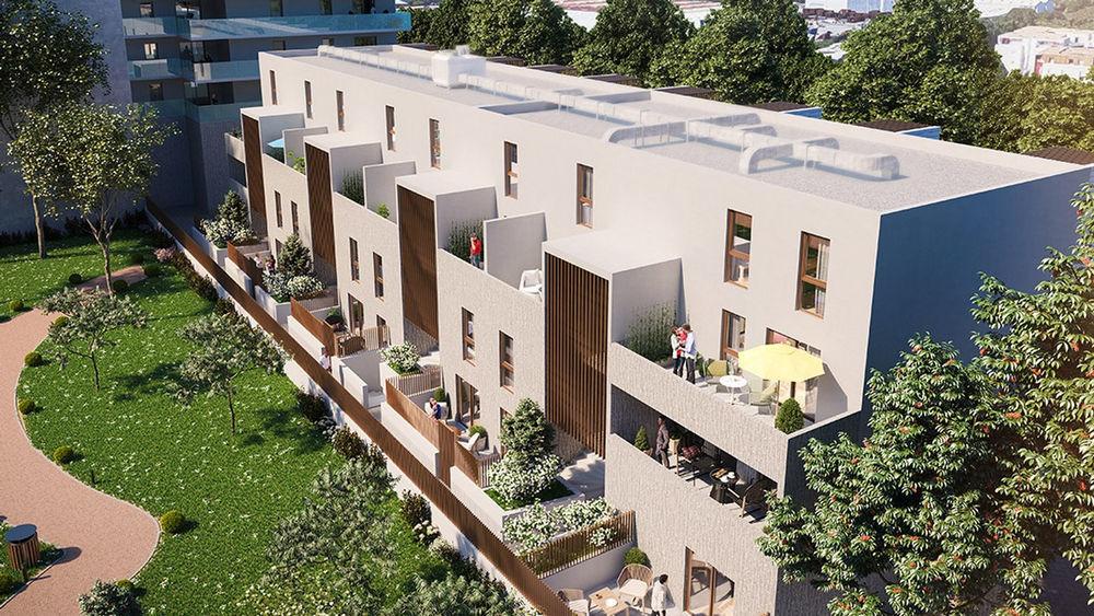 Vente Appartement appartement duplex T3 56 m2 jardin 18 m2 près d'arènes montpellier  à Montpellier