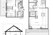 Duplex T4 104,71 m2 avec une terrasse de 24,50 m2 et un balcon de 13.06 790000 Divonne-les-Bains (01220)