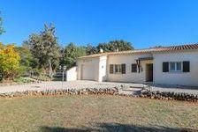 Villa plain pied 115 m2 avec garage attenant et jardin piscinable sur un terrain arboré et clôturé de 1200 m2 située entre Uzès 205000 Méjannes-le-Clap (30430)