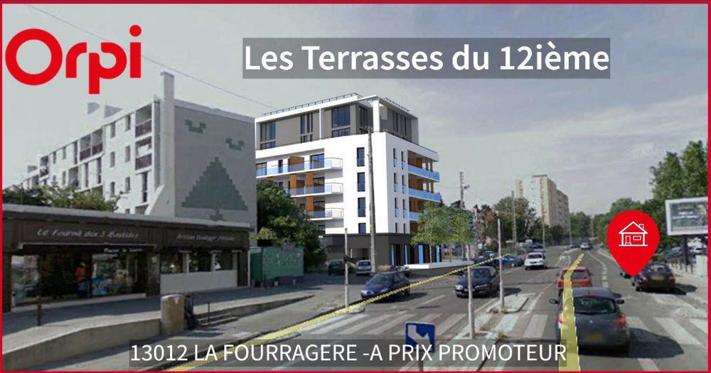 Vente Appartement Vaste T2 de 46m² + 20 m² de terrasse (LA FOURRAGERE) Marseille 12