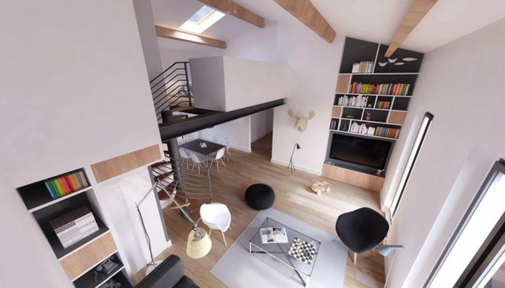 Vente Appartement LOFT 75m2 TYPE3 2 CHAMBRES DUPLEX LOT 1  à Craponne