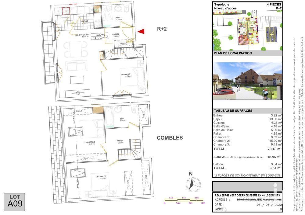 Vente Appartement Vente Appartement 4 pièces  à Jouars-pontchartrain