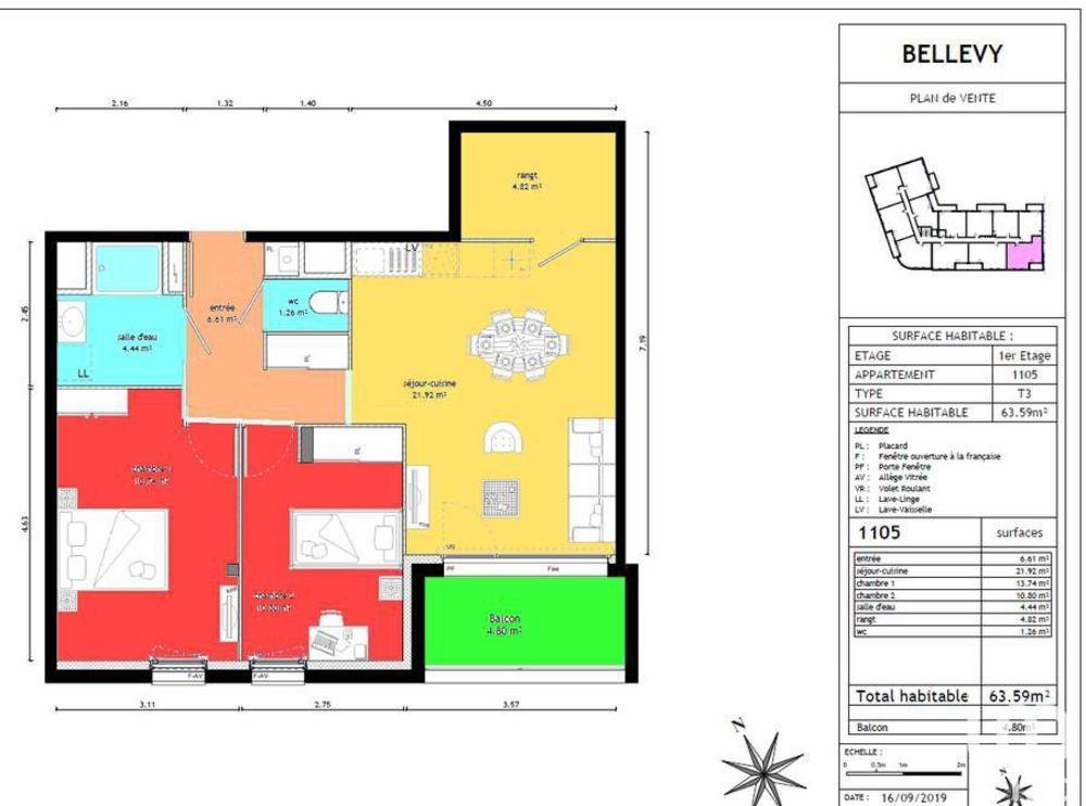 Vente Appartement Vente Appartement 3 pièces  à Vezin-le-coquet