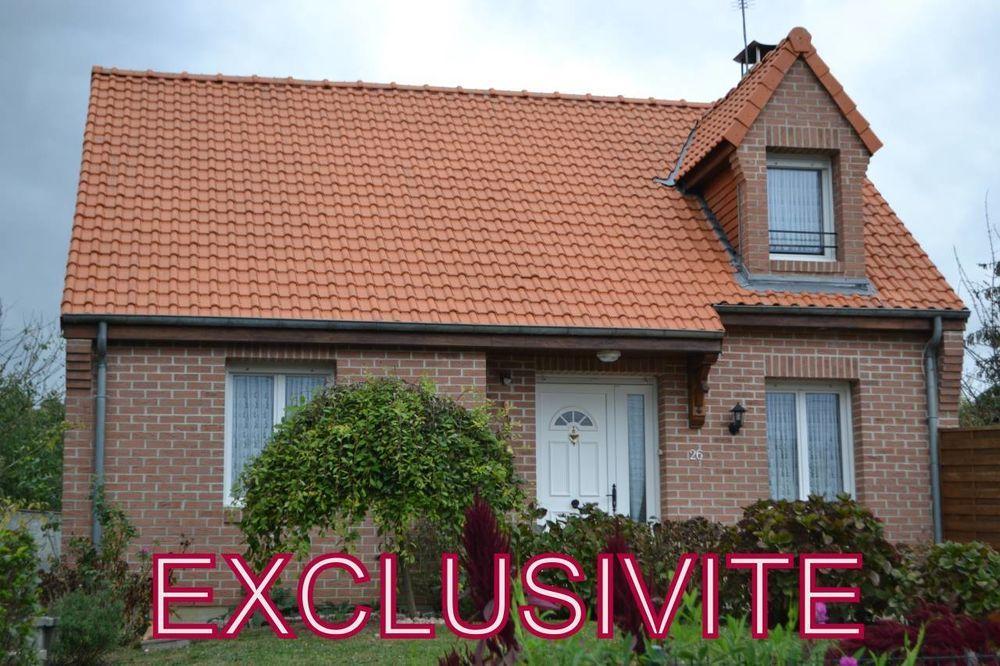 Vente Maison Pavillon semi plain pied de 100 m2 Habitable sur 2 900 m2 de ter  à Englefontaine