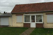 Maison plain pied, 1 chambre, pelouse 450 Boué (02450)