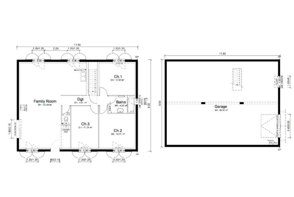 Maisons punch bourgoin maison 4 pi ce s 88 m montalieu for Constructeur maison bourgoin