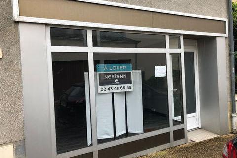 A louer - Local commercial ou professionnel sur Noyen Sur Sarthe 4 pièce(s) 77.50 m2 350 72430 Noyen sur sarthe