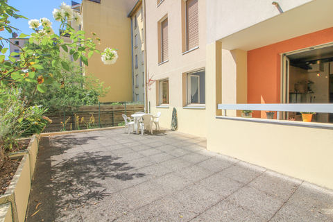 Appartement T3 72 m2 en rez-de-jardin avec terrasse 275000 Villeurbanne (69100)