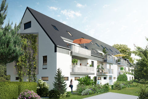 Appartement Neuf  82,9 m²  3 pièces avec terrasse de 20m²,  Strasbourg Robertsau 466500 Strasbourg (67000)