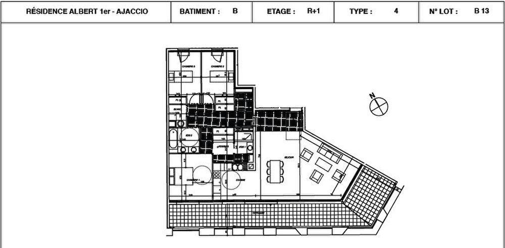 Vente Appartement Appartement Ajaccio 4 pièces 115.15 m2 Ajaccio