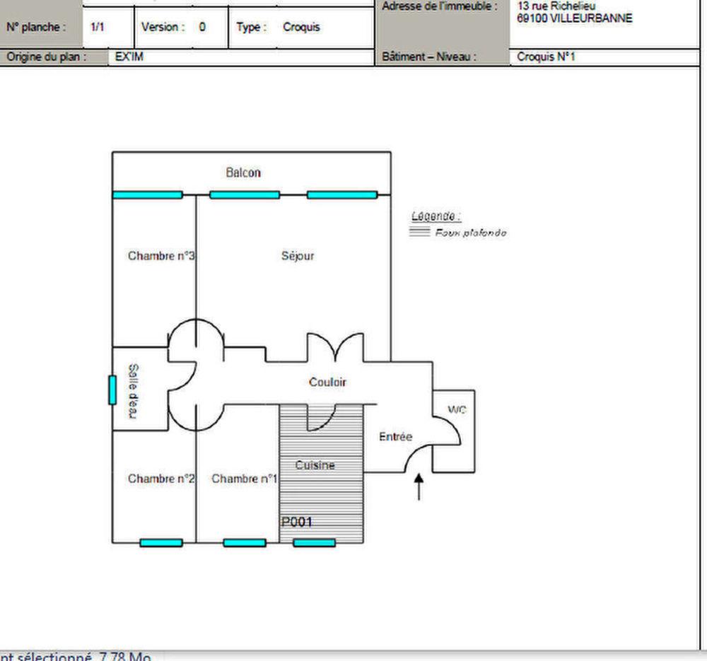 Vente Appartement Appartement  5 pièces 90 m² Villeurbanne Centre Villeurbanne