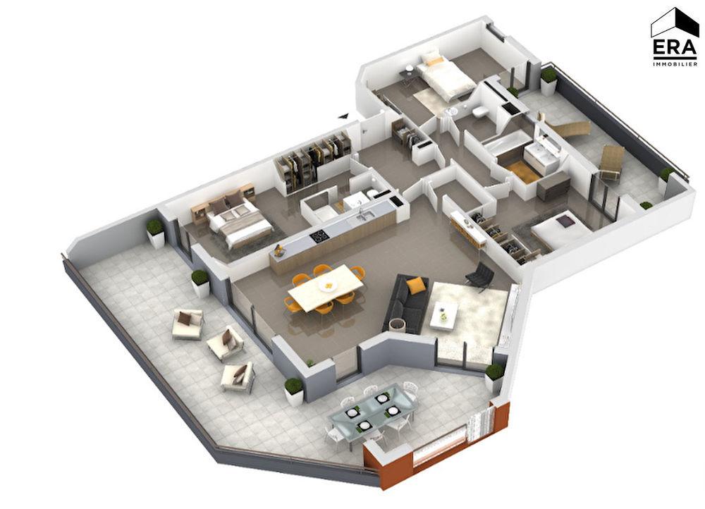 Vente Appartement Appartement Ajaccio 4 pièce(s) 124.85 m2 Ajaccio