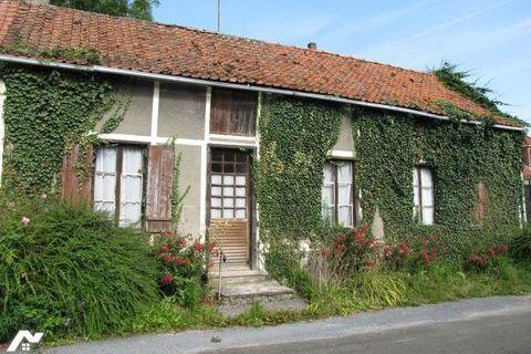Maison de plain-pied à rénover, environ 75 m² hab., sur un terrain de 970 m², 52700 Saint-Riquier (80135)