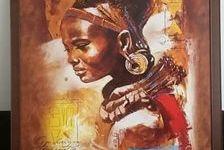 2 portraits africains   peintre JOADOOR 500 Lescar (64230)