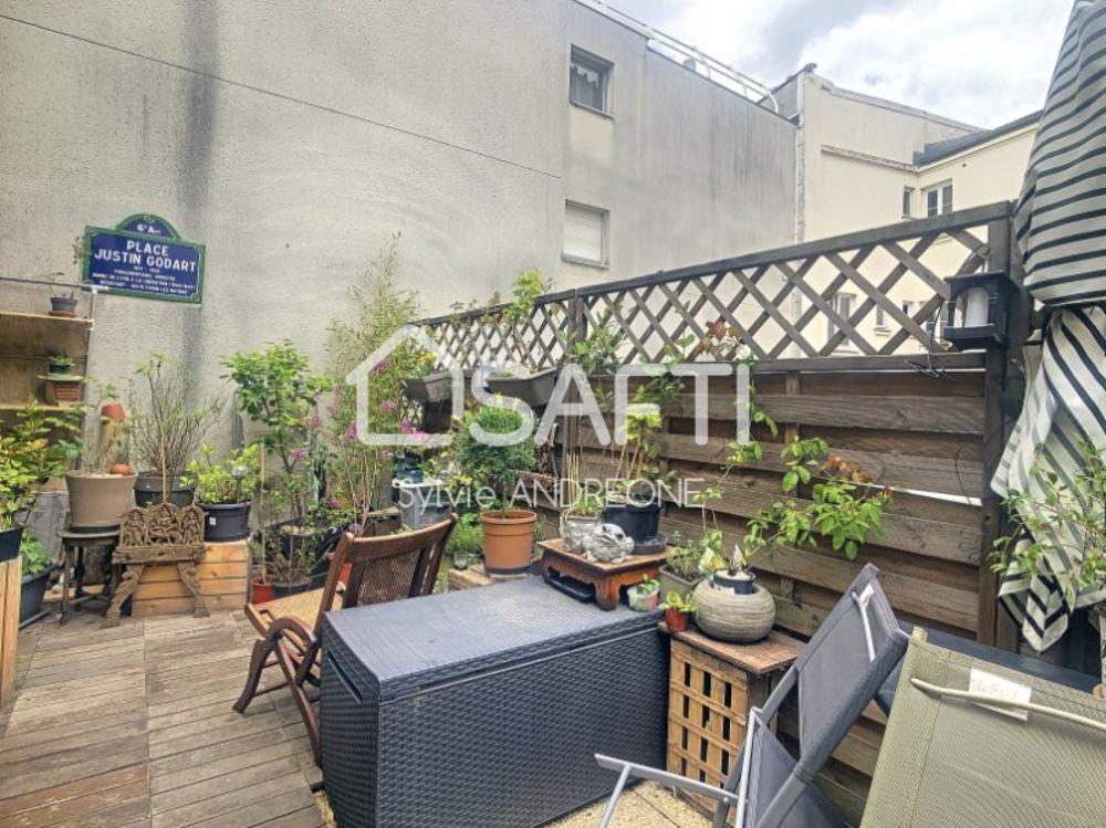 Vente Appartement BUTTES CHAUMONT DUPLEX 4/5 P AVEC EXTERIEURS Paris 19