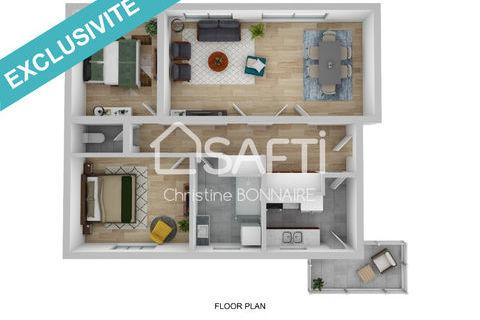 Appartement T3/4 avec balcon et cave Thionville centre 161000 Thionville (57100)