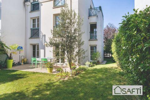 Appartement 3 pièces 65 m² avec 2 TERRASSES et JARDIN privatif 200 m² 629000 Bois-Colombes (92270)