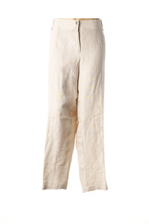 Pantalon casual femme Jean Marc Philippe beige taille : 56 37 FR (FR)